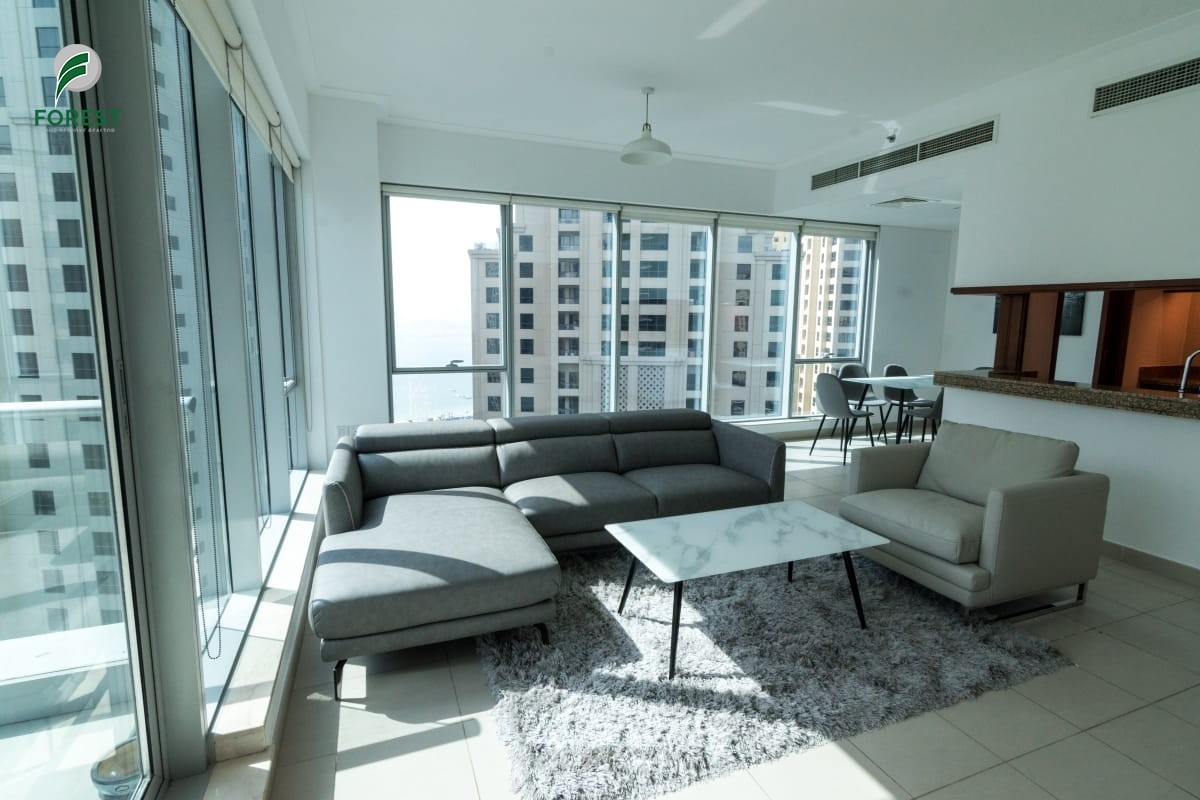 Fully Furnished | 1 Bedroom | Marina and Sea View