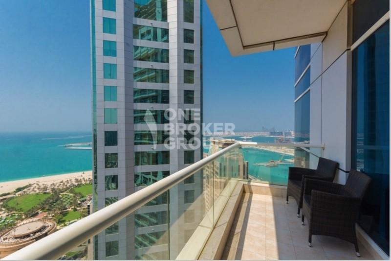 Full Sea View, Furnished, High floor, 2 Parking