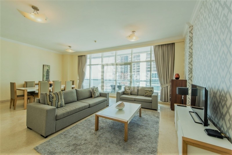 Large Size 3 Bed +Maids | Sea and Marina View