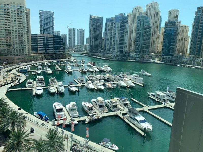 Full Marina View, 2BR + Large Study Room