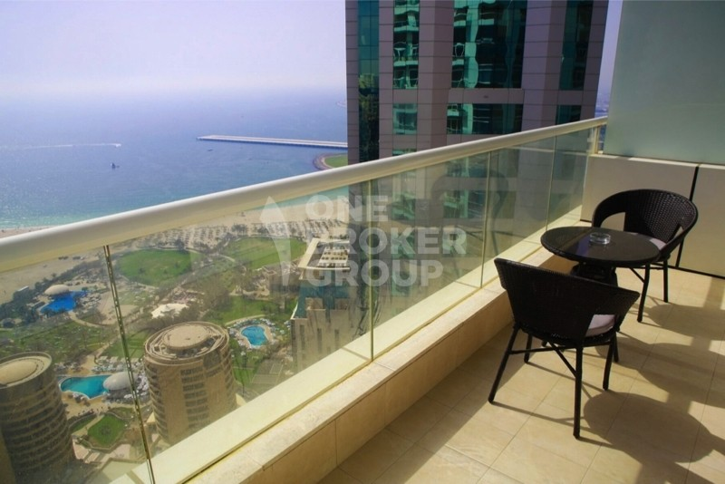 SEA VIEW, Furnished 1 Bed on High floor