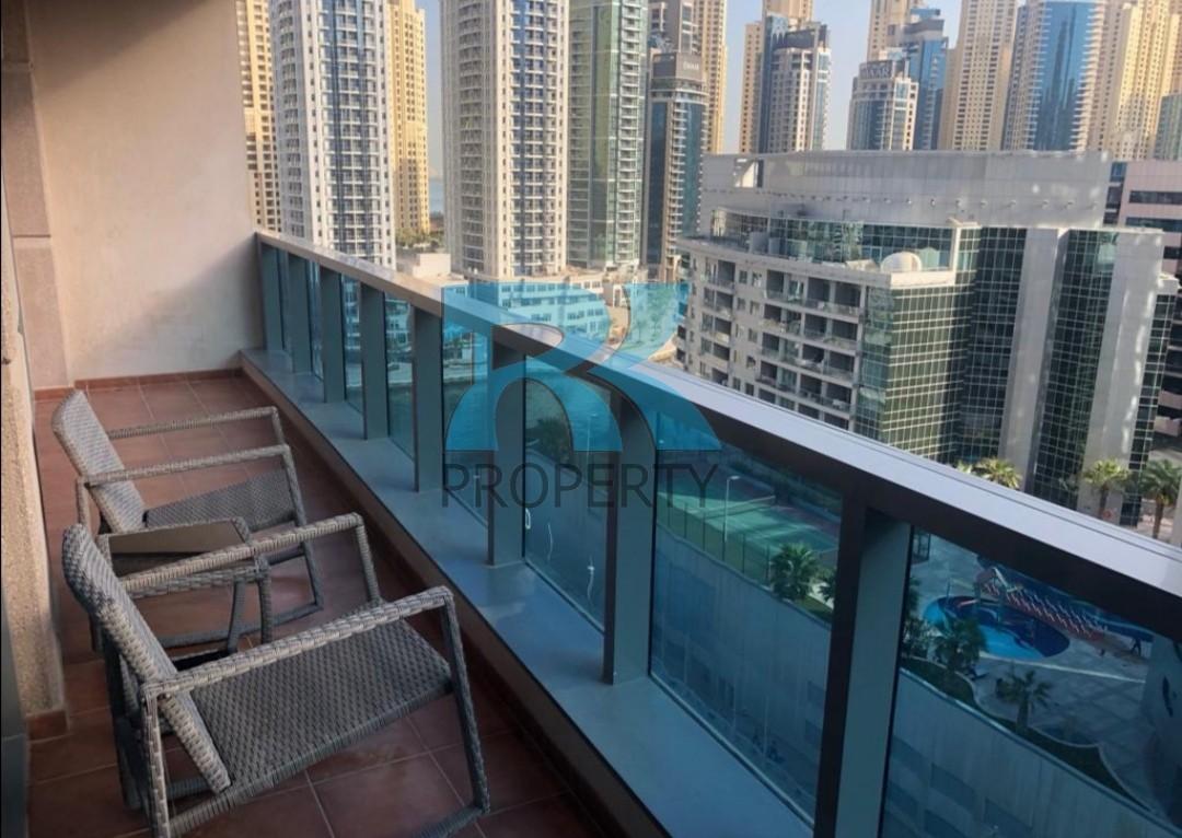 SPACIOUS 1BR WITH BALCONY  | DUBAI MARINA