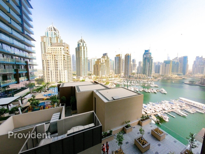 Exceptional Brand New 1BR with Partial Marina View