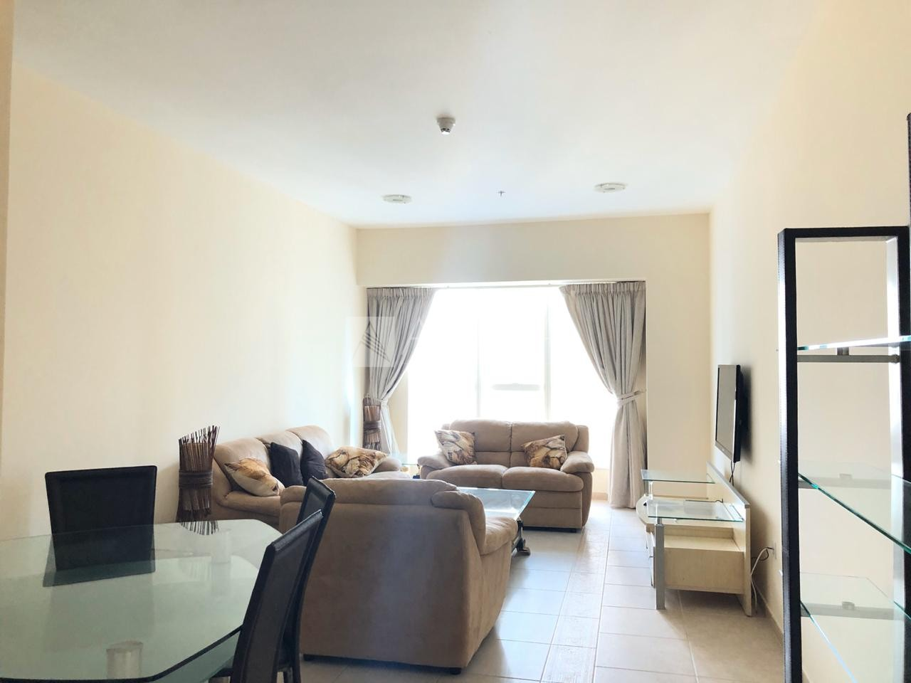 Furnished 2 BR High Floor Partial Sea View