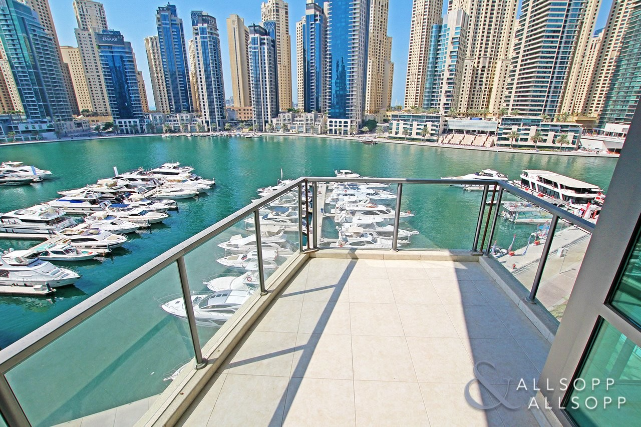 2 Bed + Study | Marina Views | Unfurnished