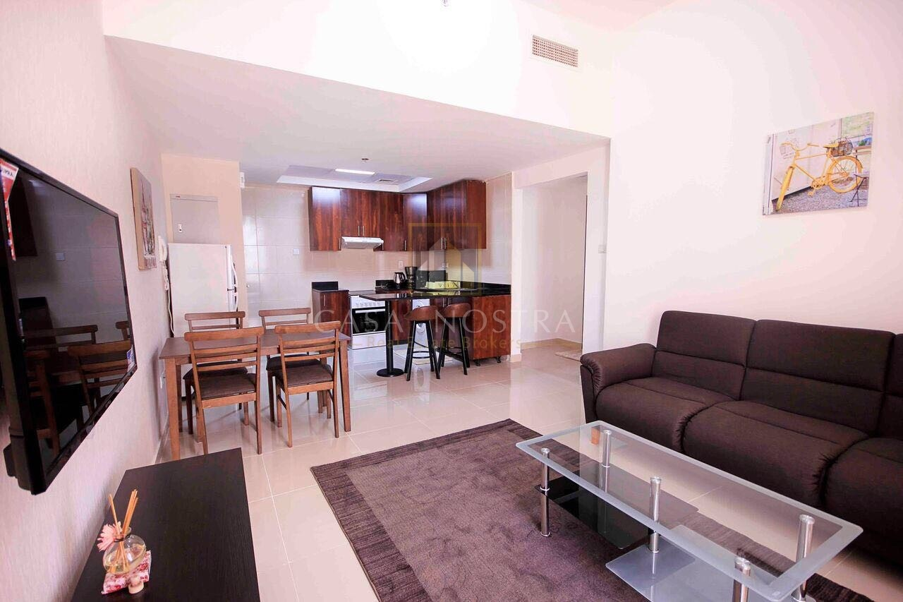 Payment in 12 Chqs Furnished 1BR on Higher Floor