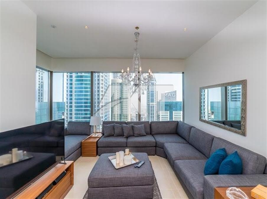 MARINA GATE/2 BEDROOMS/ HIGHEST FLOOR/ SEA AND DUBAI EYE VIEW/ FURNISHED
