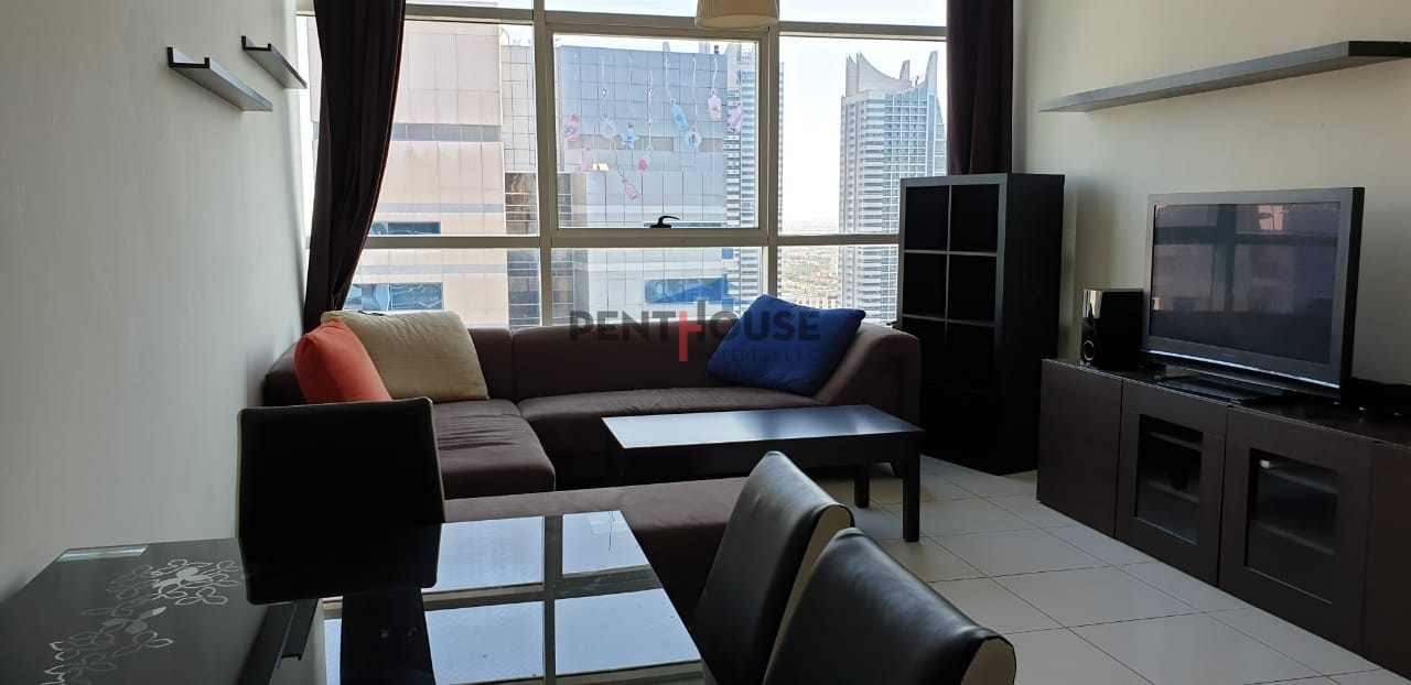 Furnished 1 bed I Balcony I Partial Marina & Hotel View