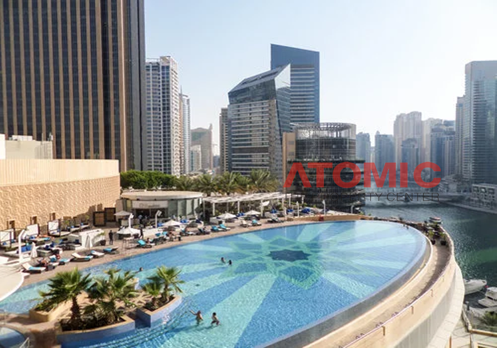 luxury furnished studio | all inclusive | AED 85000 by 4 cheque