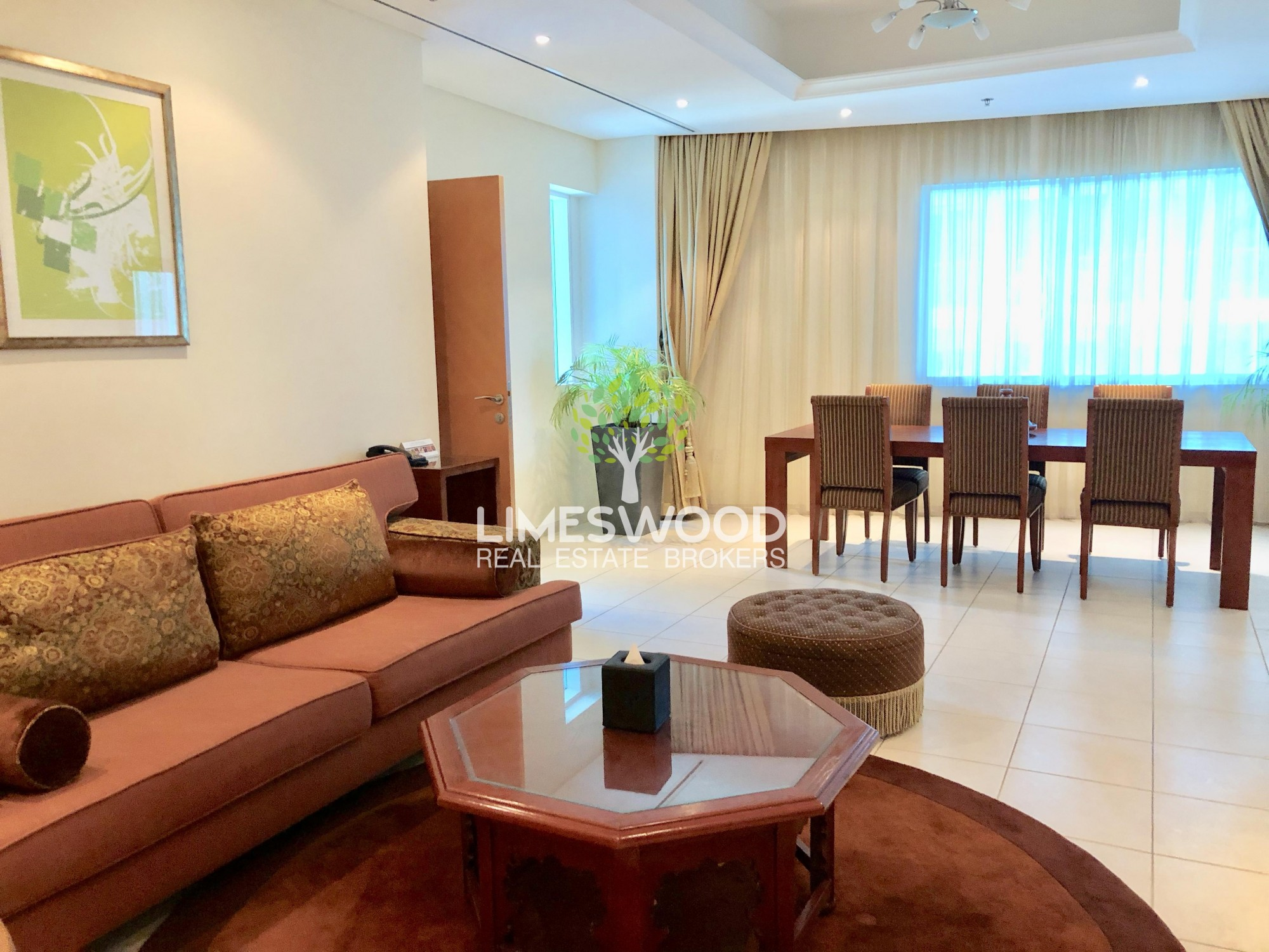 Spacious 2 Br hotel apartment in Marina for rent