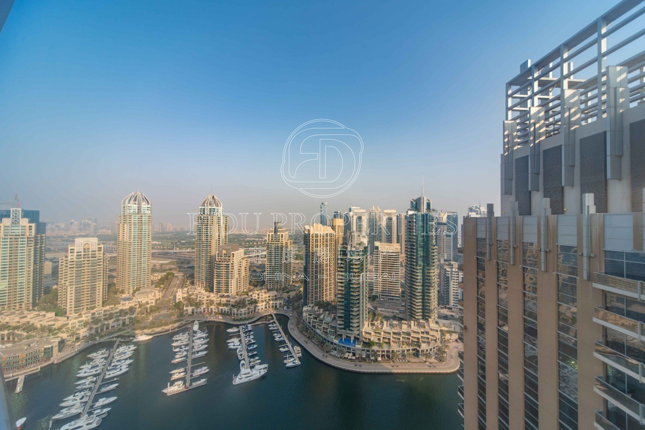 High Floor Fully Furnished | Marina Views | 3 Bed