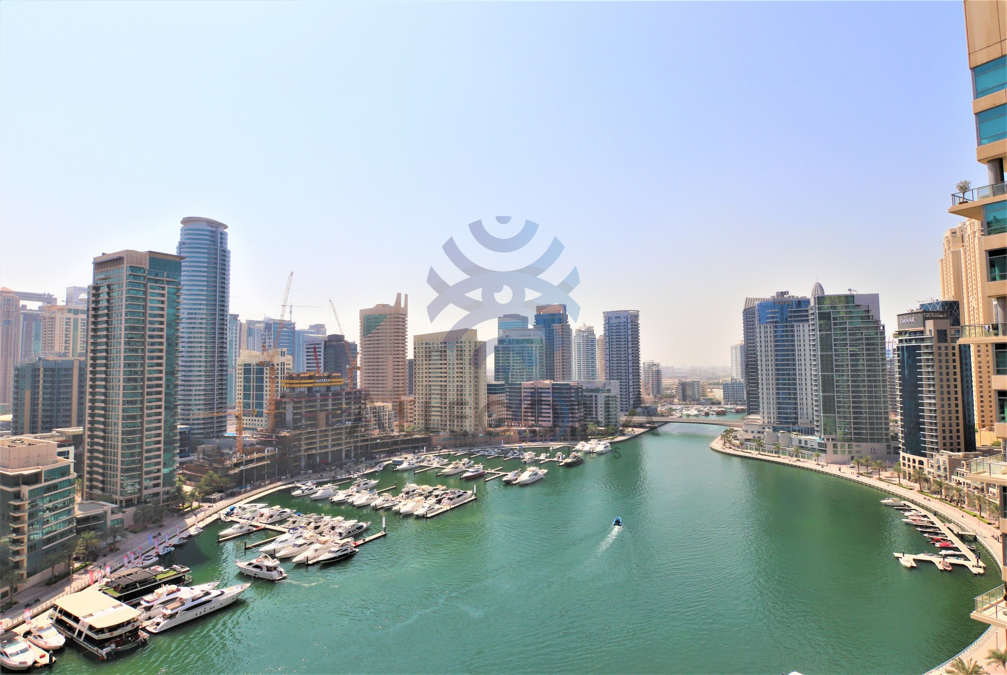 1 Bed on High Floor with Full Marina View