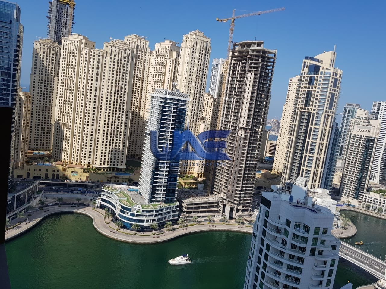 Utilities Included. . Full Marina View , Furnished Studio Apartment, Dubai Marina