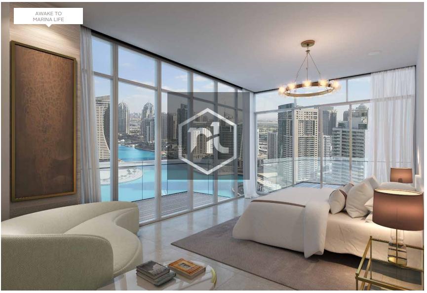 Book with 10% Marina & Sea View New Apartment in Dubai Marina