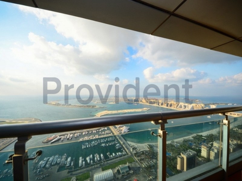 Furnished|Full Palm view|2BR with Balcony