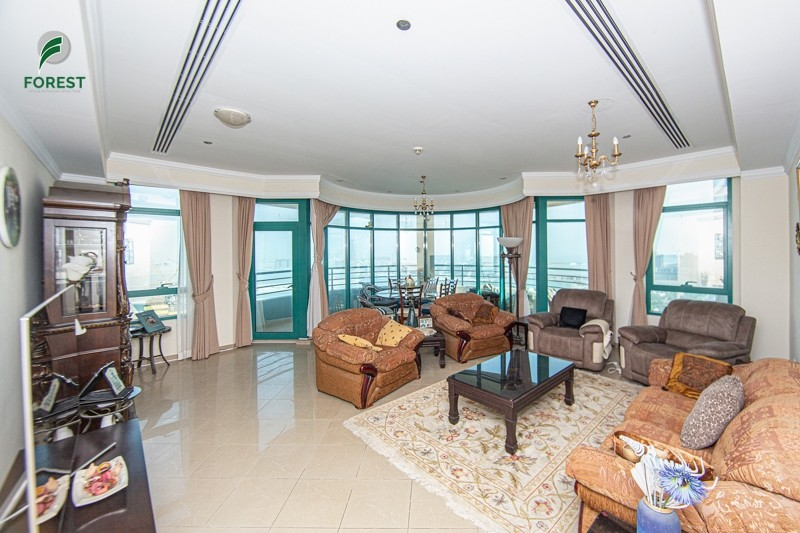Furnished 3BR with Full Sea View on High Floor