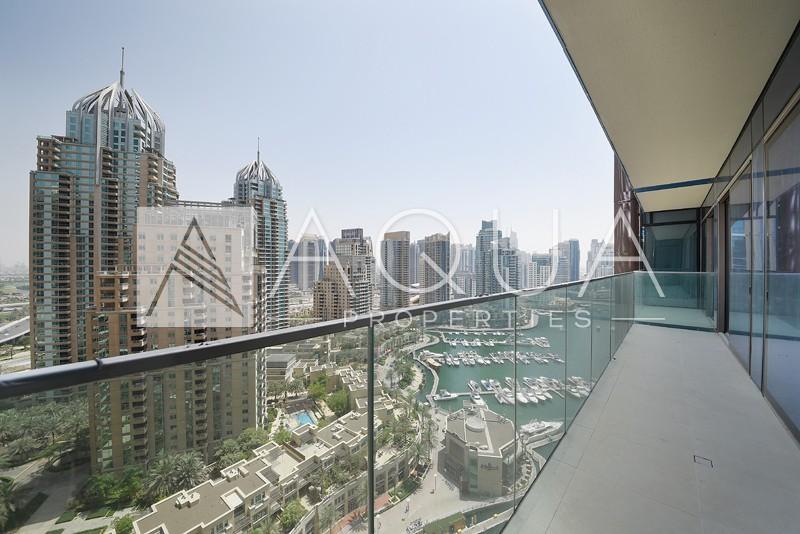 Huge Balcony with Marina Views | Unfurnished