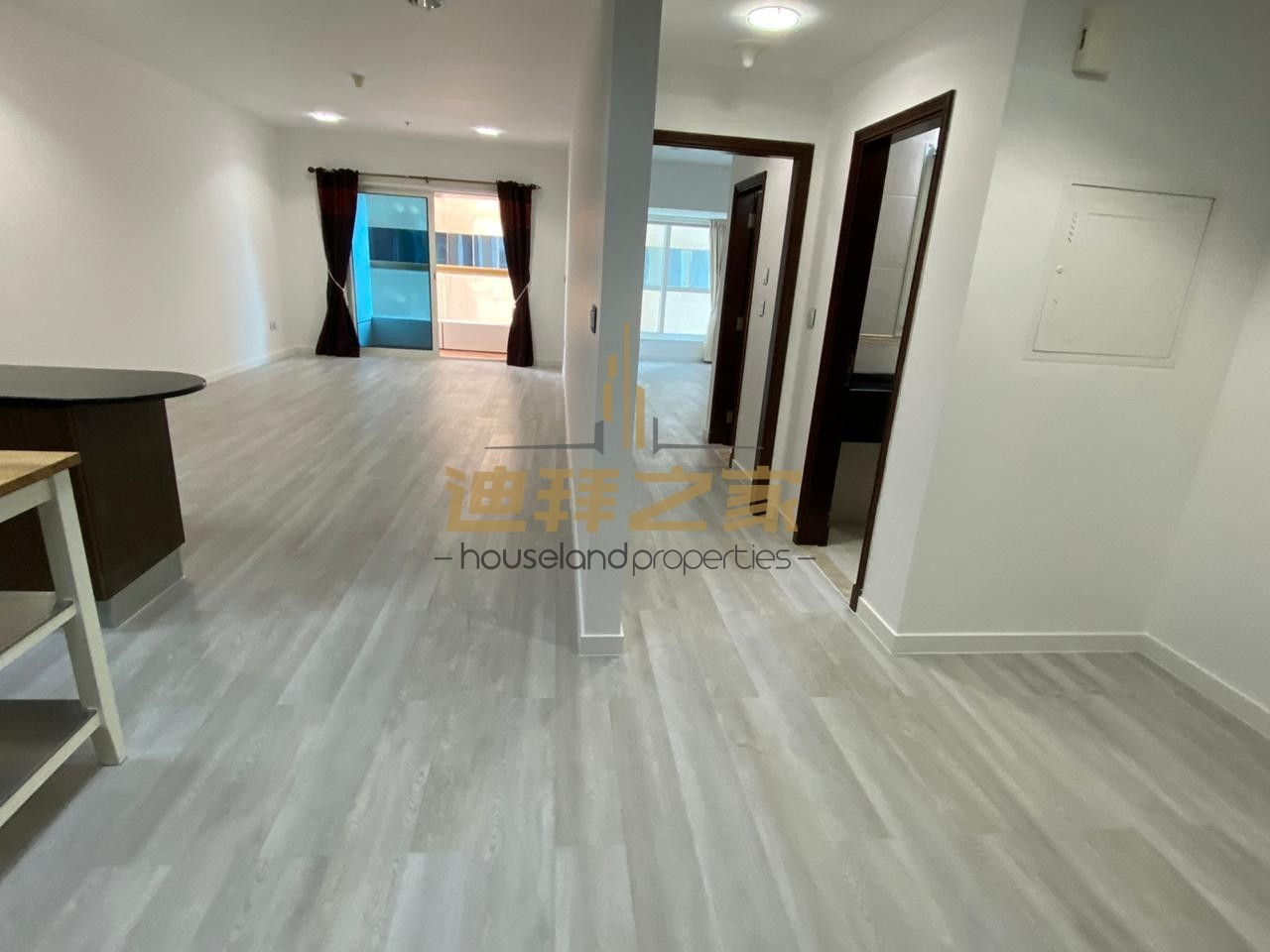 Beautifully upgraded spacious 1BHK partial sea view