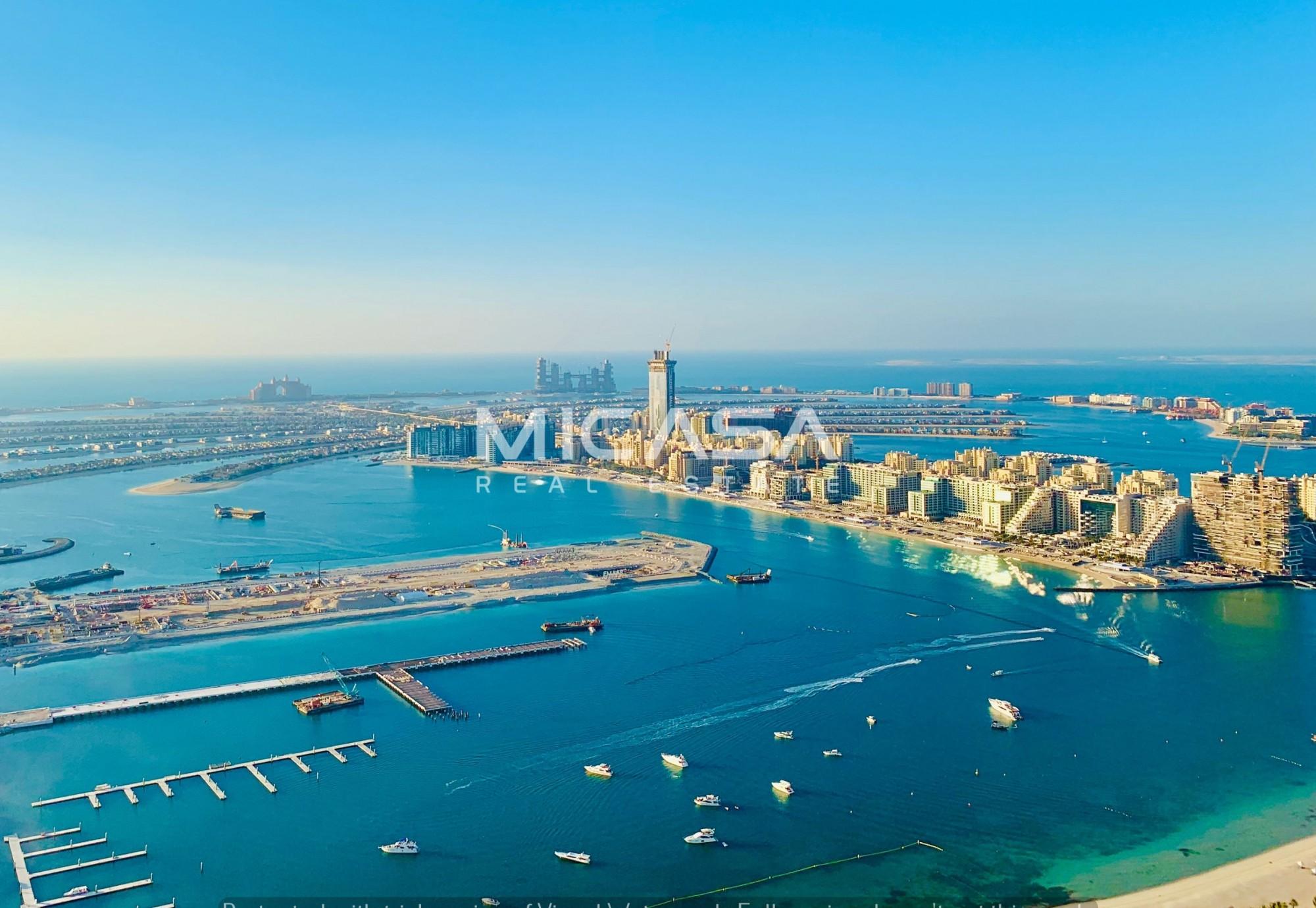 Spectacular Sea and Palm Jumeirah views | High floor | Spacious 4BR