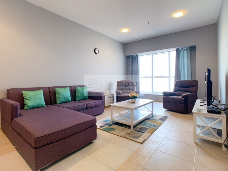 Fully Furnished 2BR | On High Floor| Full Sea View
