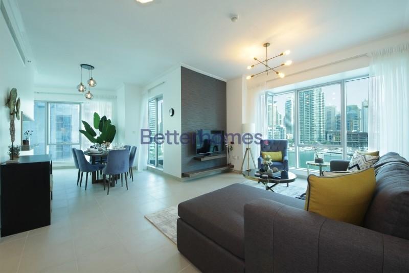 Luxury furnished | Full Marina View | Balcony | Available
