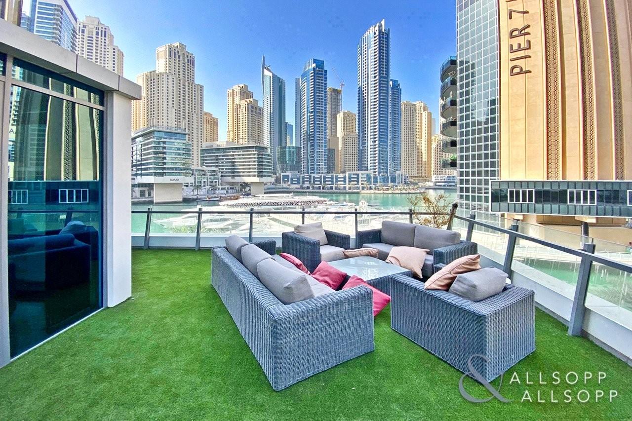 Unique Terrace   Full Marina Views   4 Bed