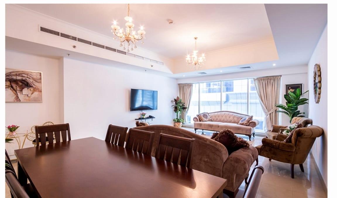 Furnished 2 Bed+maid in Emirates Crown Dubai Marina
