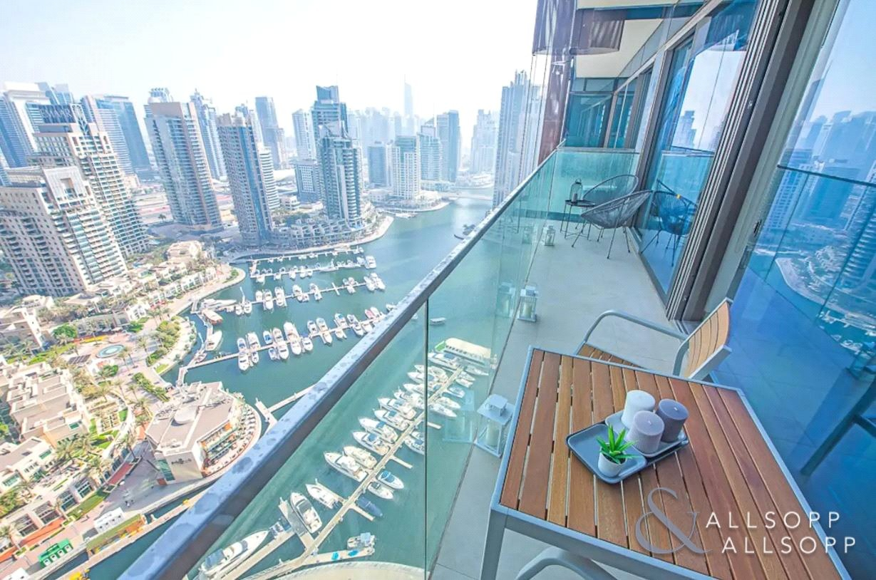 Perfect Furnished 1 Bed   Full Marina View