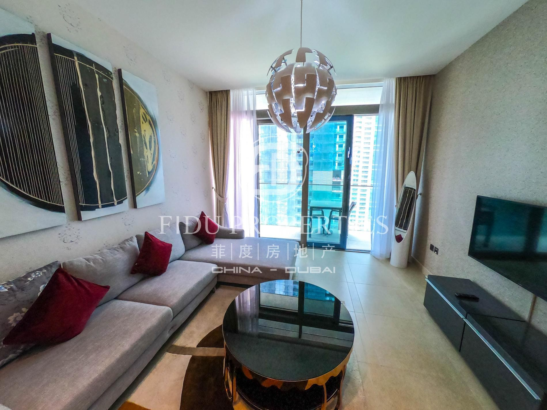 Furnished   Serviced Unit   Partial Marina View