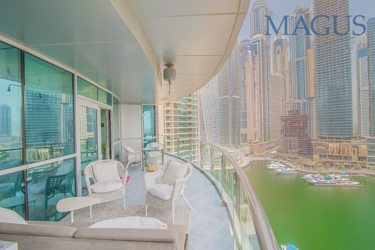Full Marina View| Chiller free| Furnished| 2br + storage