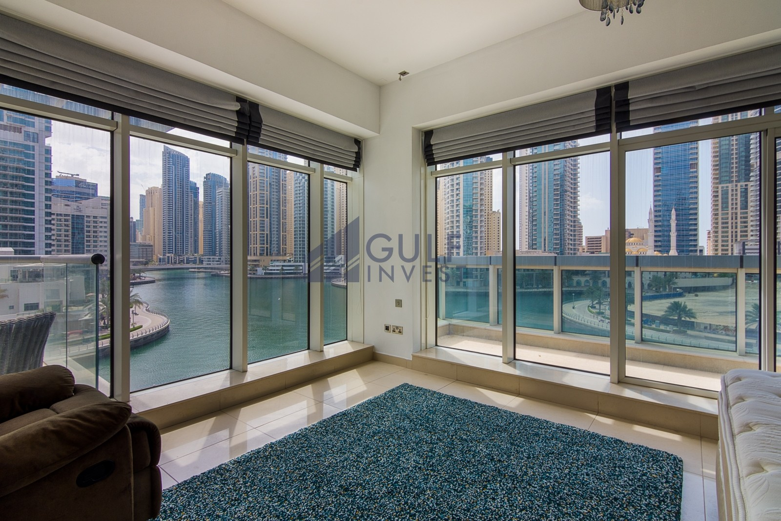 Furnished 2 bed with Maid and study full marina view