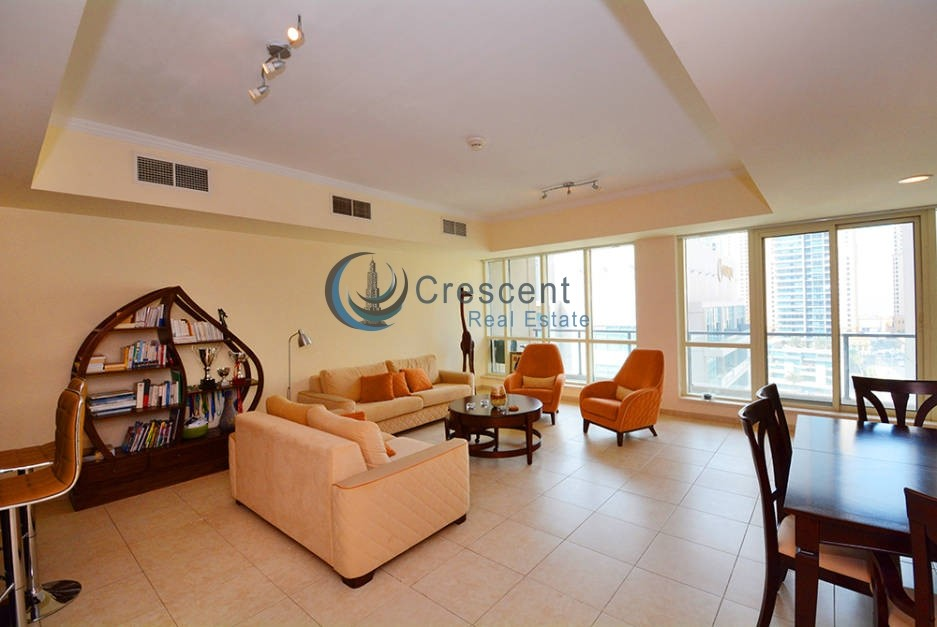 Amazing Furnished 3 B with Marina View