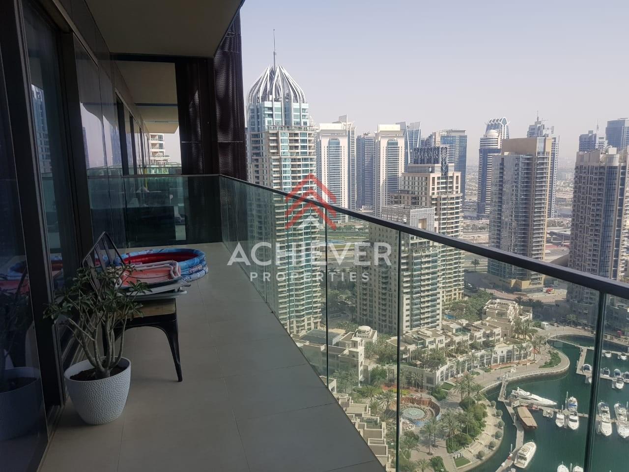 Spacious 3 Bedroom + Maid Apt | Stunning  Marina View