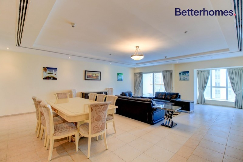 4 BR | Sea View| High Floor | Spacious |  Rented