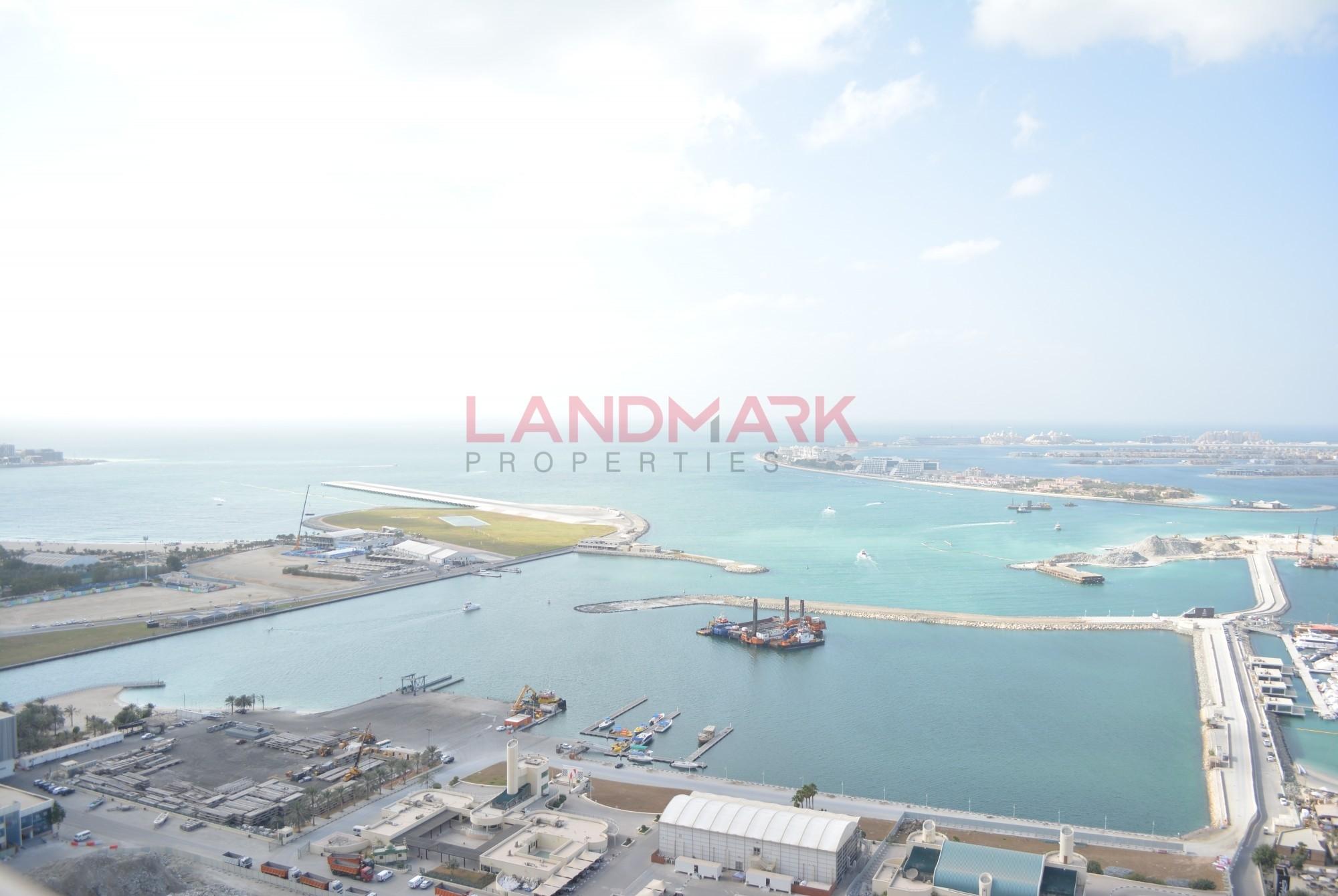 Full Sea VIEW | Huge 1 BR w Balcony with White Goods | Dubai Marina