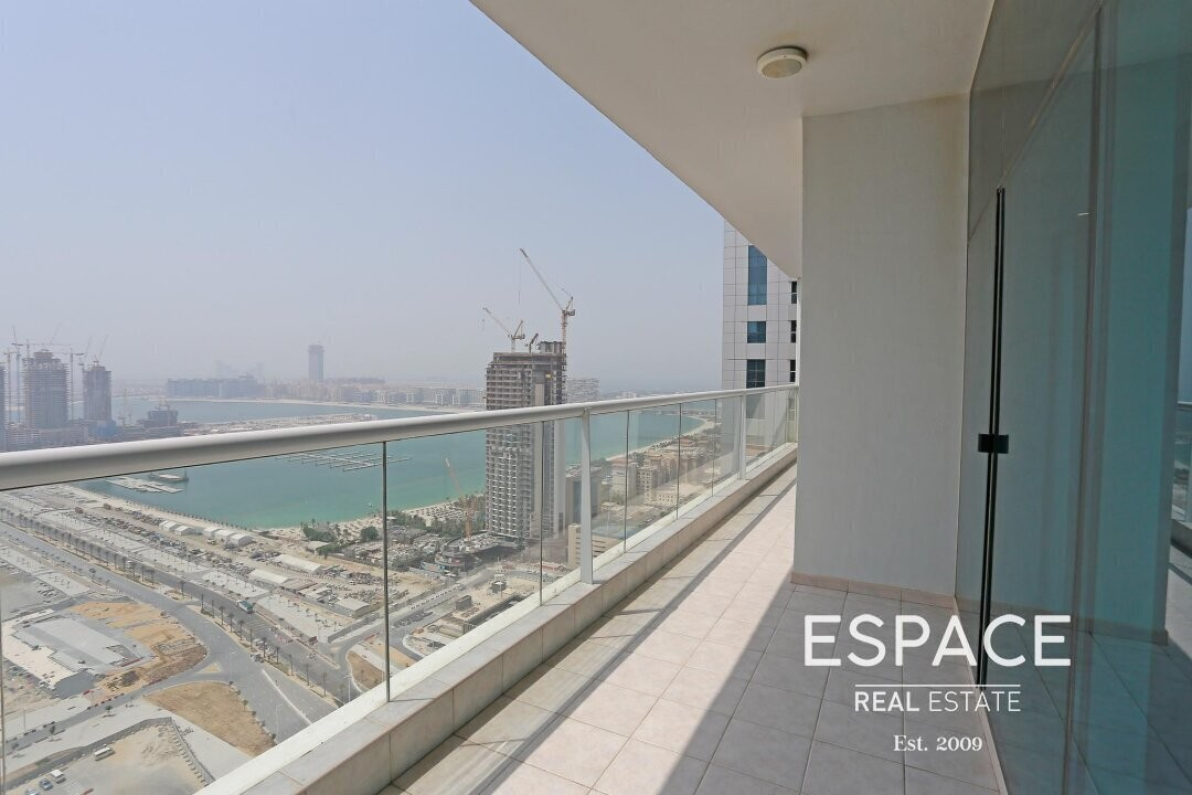 Large   Sea View   Partially Furnished Apartment