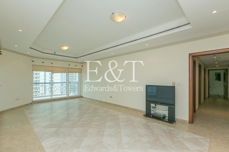 High Floor   3BR + 2 Living Rooms + Maids Room
