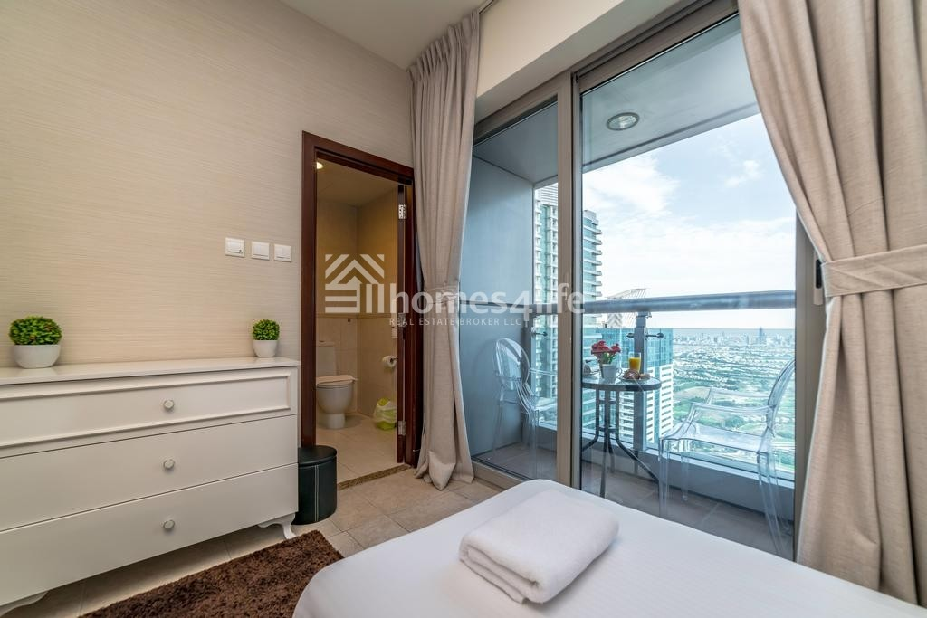 Panoramic Full Sea View, 2BR Apt Princess Tower  unfurnished