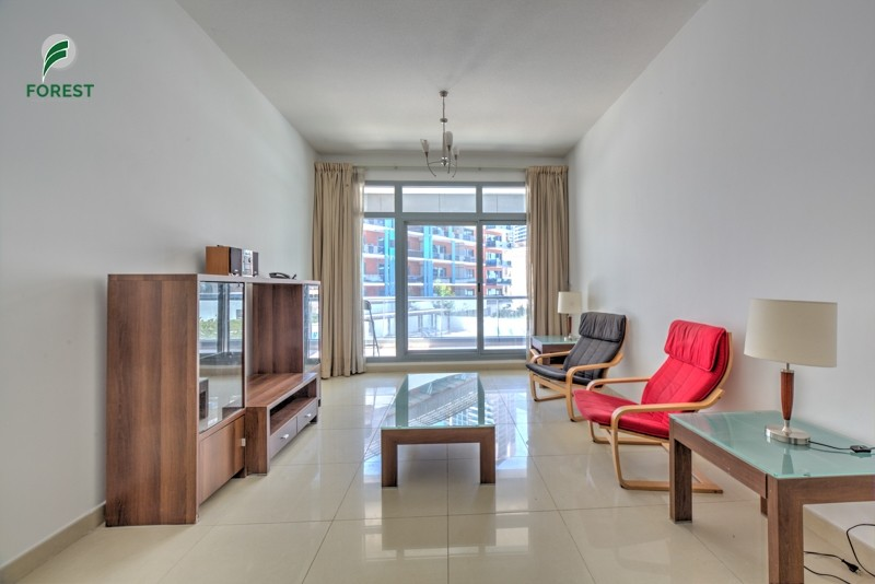 Furnished | 2BR with 2 Balconies | Opposite Metro