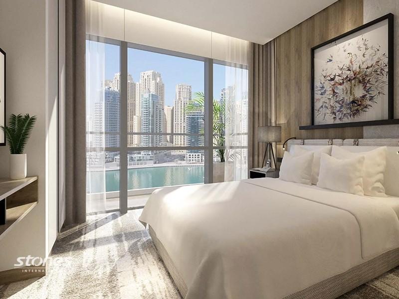 Luxurious Apartment with Marina Skyline View