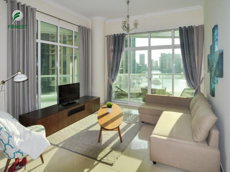 Modern Style   2BR   Full Marina View   Furnished