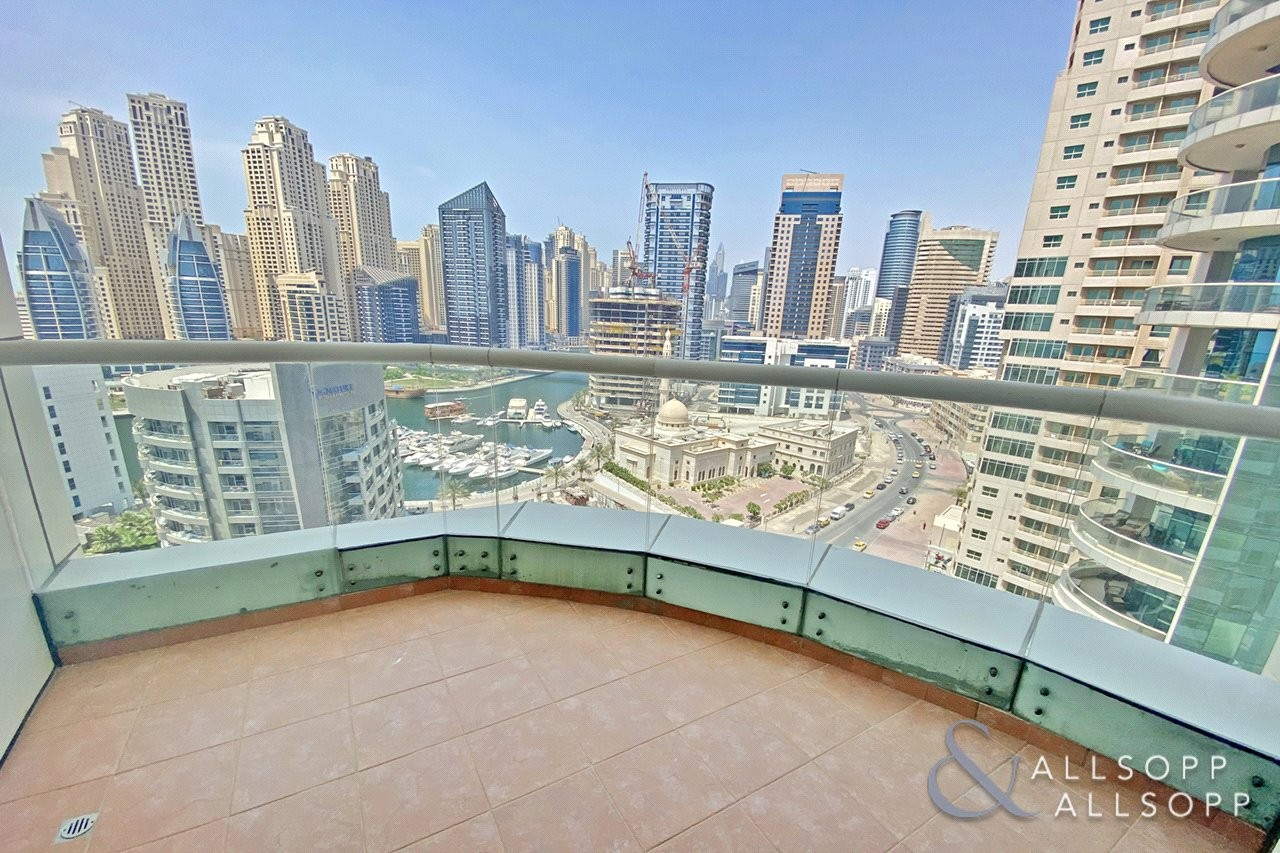 Three Bed | 3 Balconies | Full Marina View