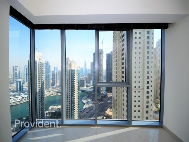 Mid Floor, Marina View, Rented  Bright Unit