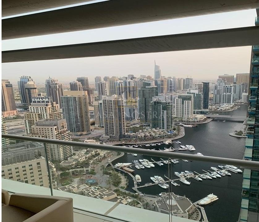 Superb Full Marina View Higher Floor 3BR Furnished