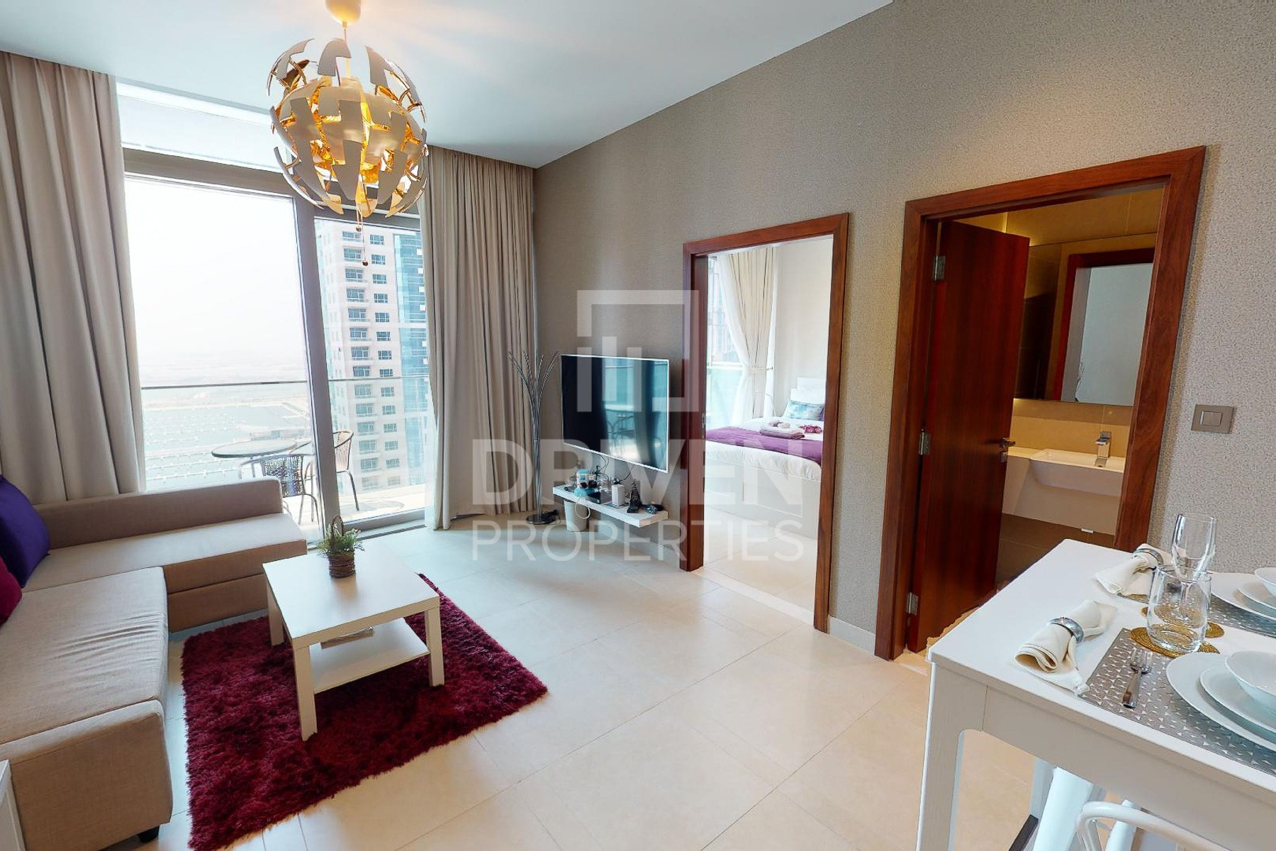Furnished 1 Bed Apartment w/ Marina View