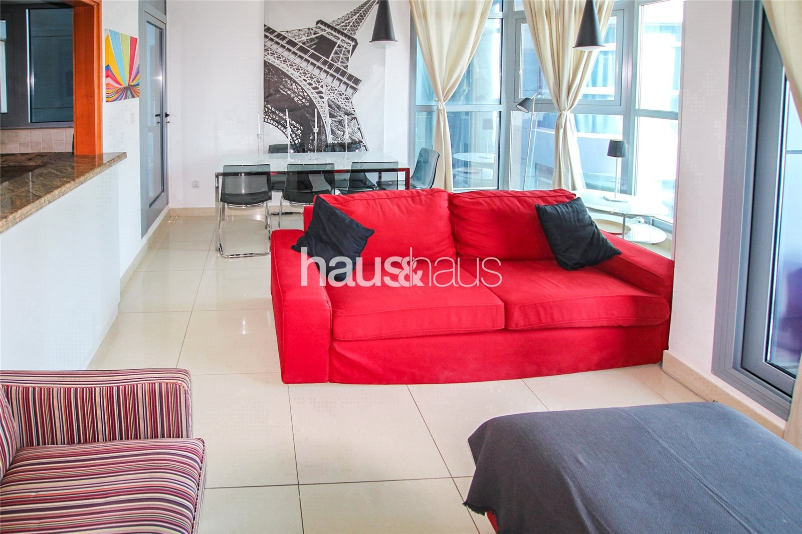 Fully furnished| Adjacent to Metro Station| 2 bed+